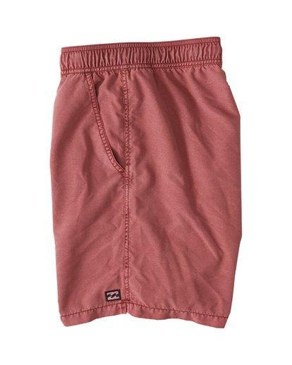 "2 All Day Overdye Layback Boardshorts 17"" Red M1821BAB Billabong"