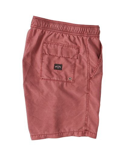 "3 All Day Overdye Layback 17"" Boardshort Red M1821BAB Billabong"