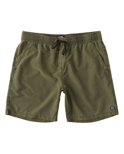 "0 All Day Overddye Layback 17"" Boardshort Green M1821BAB Billabong"