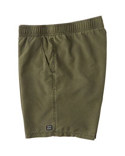 "2 All Day Overddye Layback 17"" Boardshort Green M1821BAB Billabong"