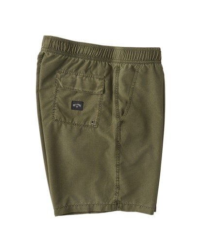 "3 All Day Overdye Layback Boardshorts 17"" Green M1821BAB Billabong"