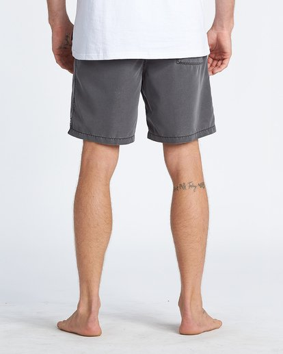 "4 All Day Overdye Layback 17"" Boardshort Black M1821BAB Billabong"