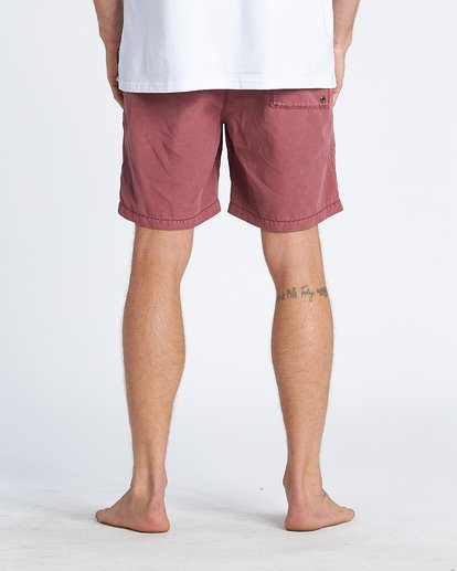 "9 All Day Overdye Layback 17"" Boardshort Red M1821BAB Billabong"