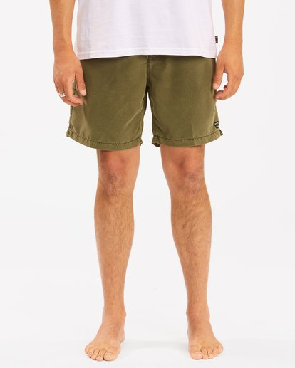 "4 All Day Overdye Layback Boardshorts 17"" Green M1821BAB Billabong"