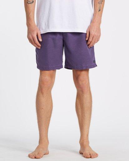 2 All Day Overdye Layback Boardshorts Purple M1821BAB Billabong