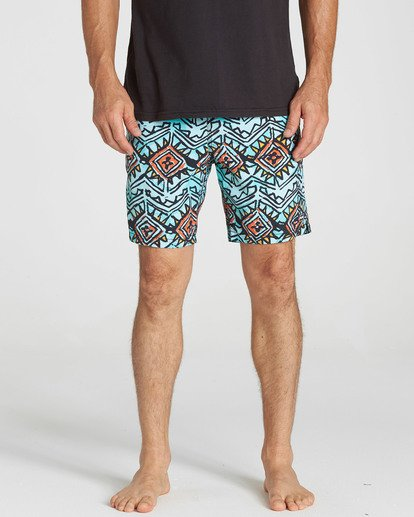 4 Sundays Layback Boardshorts Red M182NBSU Billabong