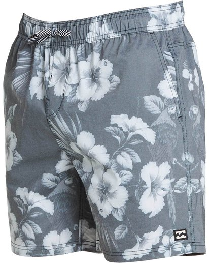 1 Sundays Floral Layback Boardshorts Black M182PBSE Billabong