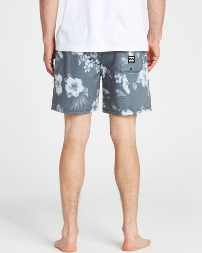 4 Sundays Floral Layback Boardshorts Black M182PBSE Billabong