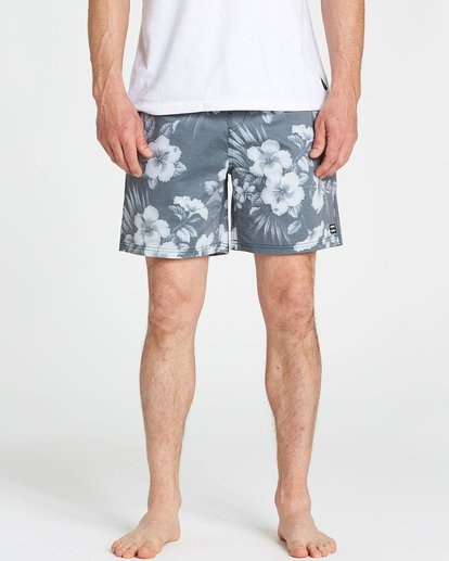 3 Sundays Floral Layback Boardshorts Black M182PBSE Billabong