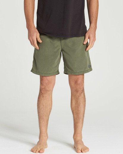 4 All Day Layback Boardshorts Green M182TBAD Billabong