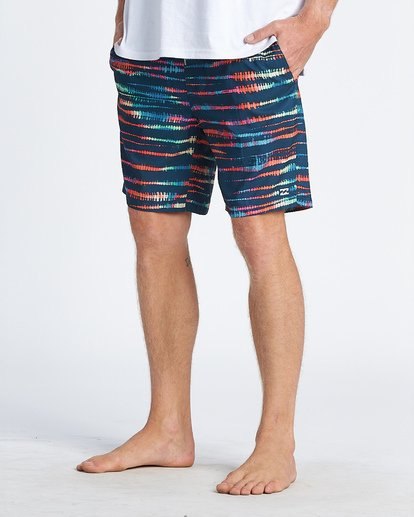 2 All Day Riot Layback Boardshorts Blue M1831BRB Billabong