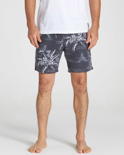 6 Sundays Layback Boardshorts Black M183QBSE Billabong