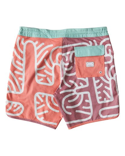 1 Cactus 73 Lo Tide Boardshorts Orange M184VBCL Billabong