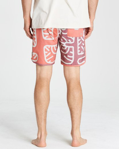10 Cactus 73 Lo Tide Boardshorts Orange M184VBCL Billabong