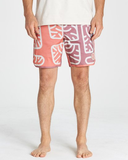 7 Cactus 73 Lo Tide Boardshorts Orange M184VBCL Billabong