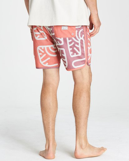 8 Cactus 73 Lo Tide Boardshorts Orange M184VBCL Billabong
