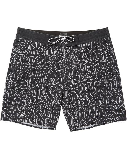 0 Barbus Printed Boardshorts Black M190SBBA Billabong