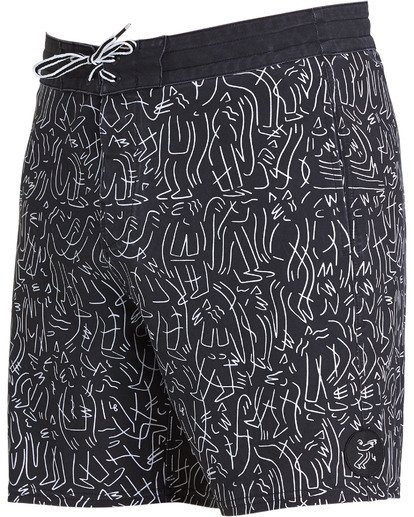 2 Barbus Printed Boardshorts Black M190SBBA Billabong