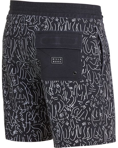 3 Barbus Printed Boardshorts Black M190SBBA Billabong