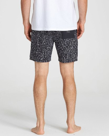 5 Barbus Printed Boardshorts Black M190SBBA Billabong