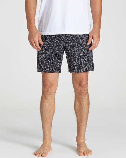 4 Barbus Printed Boardshorts Black M190SBBA Billabong