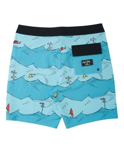 1 One Fish Two Fish Lo Tides Boardshort Blue M1953BST Billabong