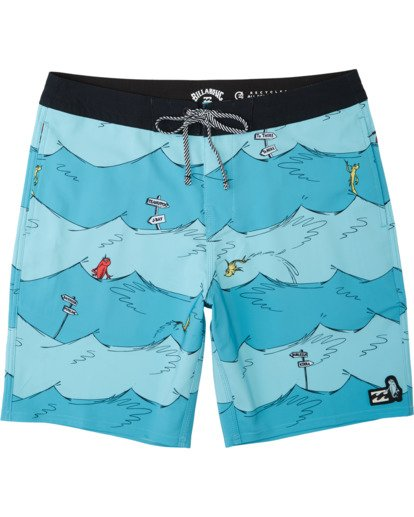 0 One Fish Two Fish Lo Tides Boardshort Blue M1953BST Billabong