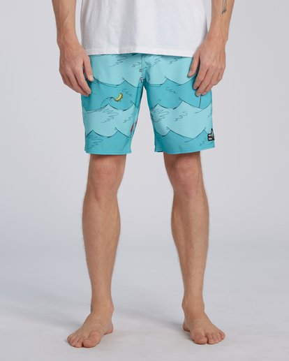 2 One Fish Two Fish Lo Tides Boardshort Blue M1953BST Billabong