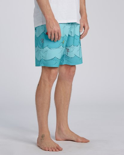 3 One Fish Two Fish Lo Tides Boardshort Blue M1953BST Billabong