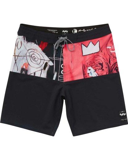0 Men's New Flame X Boardshorts Pink M196PBNF Billabong
