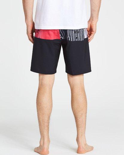 4 Men's New Flame X Boardshorts Pink M196PBNF Billabong