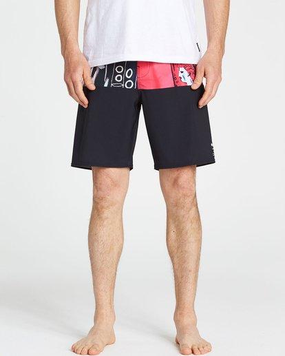 3 Men's New Flame X Boardshorts Pink M196PBNF Billabong
