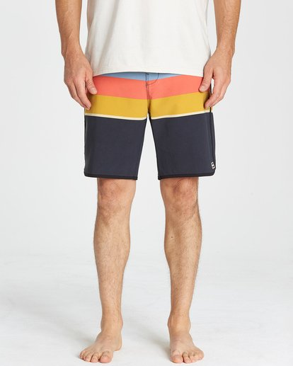 8 73 Stripe LT Boardshorts Blue M198VBSP Billabong