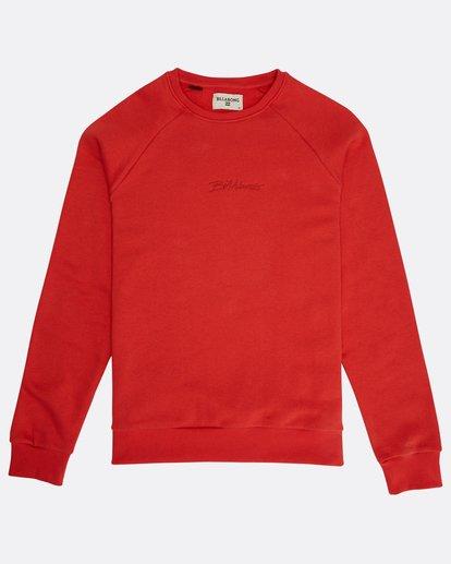 0 Eighty Six Crew Sweatshirt Rouge M1FL01BIW8 Billabong