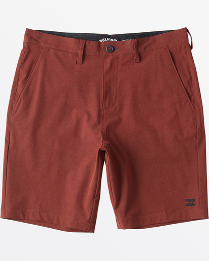 "4 Crossfire X  Mid Submersible Short 19"" Red M2011BCM Billabong"