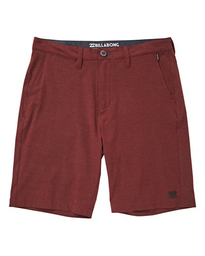 0 Crossfire X Mid Length Submersibles Shorts Red M201QBCM Billabong