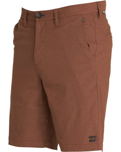 1 Crossfire X Mid Length Submersibles Shorts Brown M201QBCM Billabong
