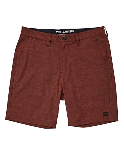 0 Crossfire X Mid Length Submersibles Shorts Brown M201VBCM Billabong