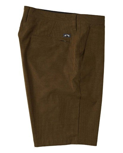 "3 Crossfire Submersible Short 21"" Brown M2021BCX Billabong"