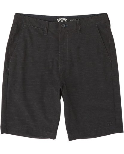 "4 Crossfire Slub Submersible Walkshort 21"" Black M2031BCS Billabong"