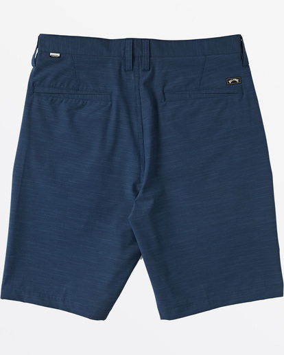 "3 Crossfire Slub Submersible Short 21"" Blue M2031BCS Billabong"