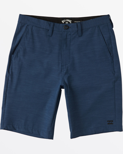 "0 Crossfire Slub Submersible Short 21"" Blue M2031BCS Billabong"