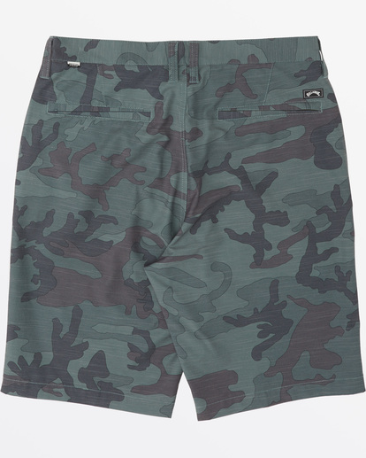 "4 Crossfire Slub Submersible Walkshort 21"" Green M2031BCS Billabong"
