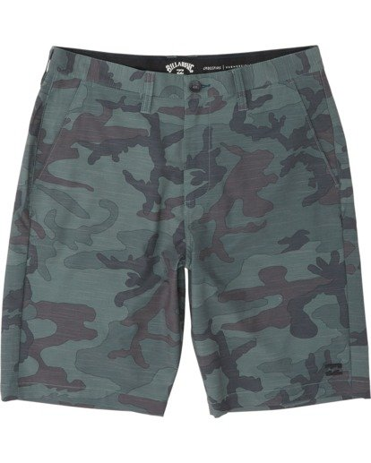 "3 Crossfire Slub Submersible Walkshort 21"" Green M2031BCS Billabong"