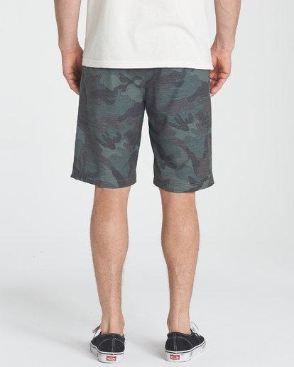 5 Crossfire X Slub Submersibles Shorts Green M203NBCS Billabong