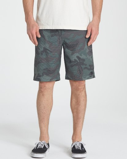 2 Crossfire X Slub Submersibles Shorts Green M203NBCS Billabong