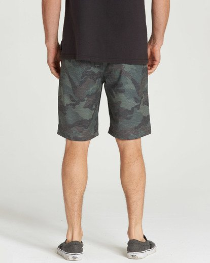 7 Crossfire X Slub Submersibles Shorts Green M203NBCS Billabong