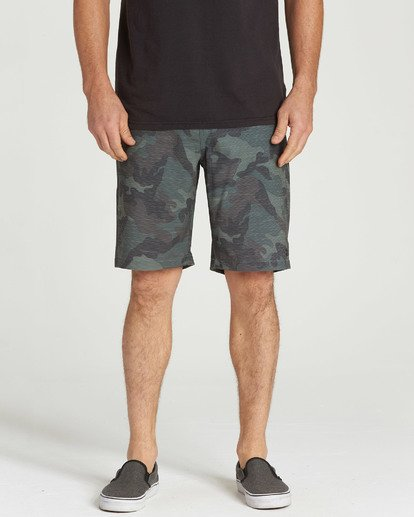 6 Crossfire X Slub Submersibles Shorts Green M203NBCS Billabong