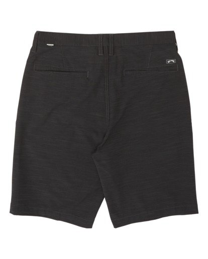"1 Crossfire Slub Mid Submersible Short 19"" Black M2043BSM Billabong"