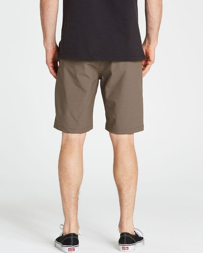 4 Crossfire X Twill Submersibles Shorts Brown M204NBCT Billabong